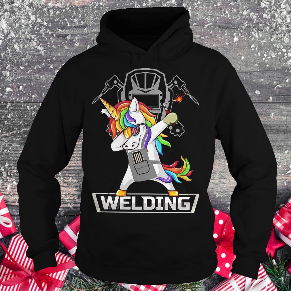 Dabbing unicorns welder shirt shirt Hoodie