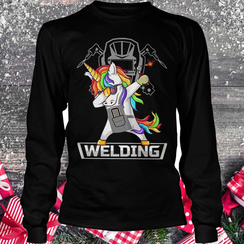 Dabbing unicorns welder shirt shirt Longsleeve Tee Unisex