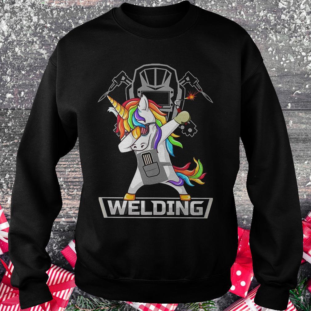 Dabbing unicorns welder shirt shirt Sweatshirt Unisex