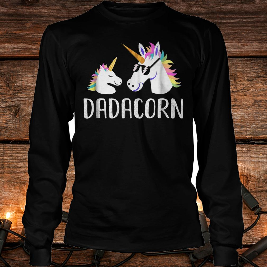 Dadacorn Unicorn Dad And Baby Fathers Day shirt Longsleeve Tee Unisex