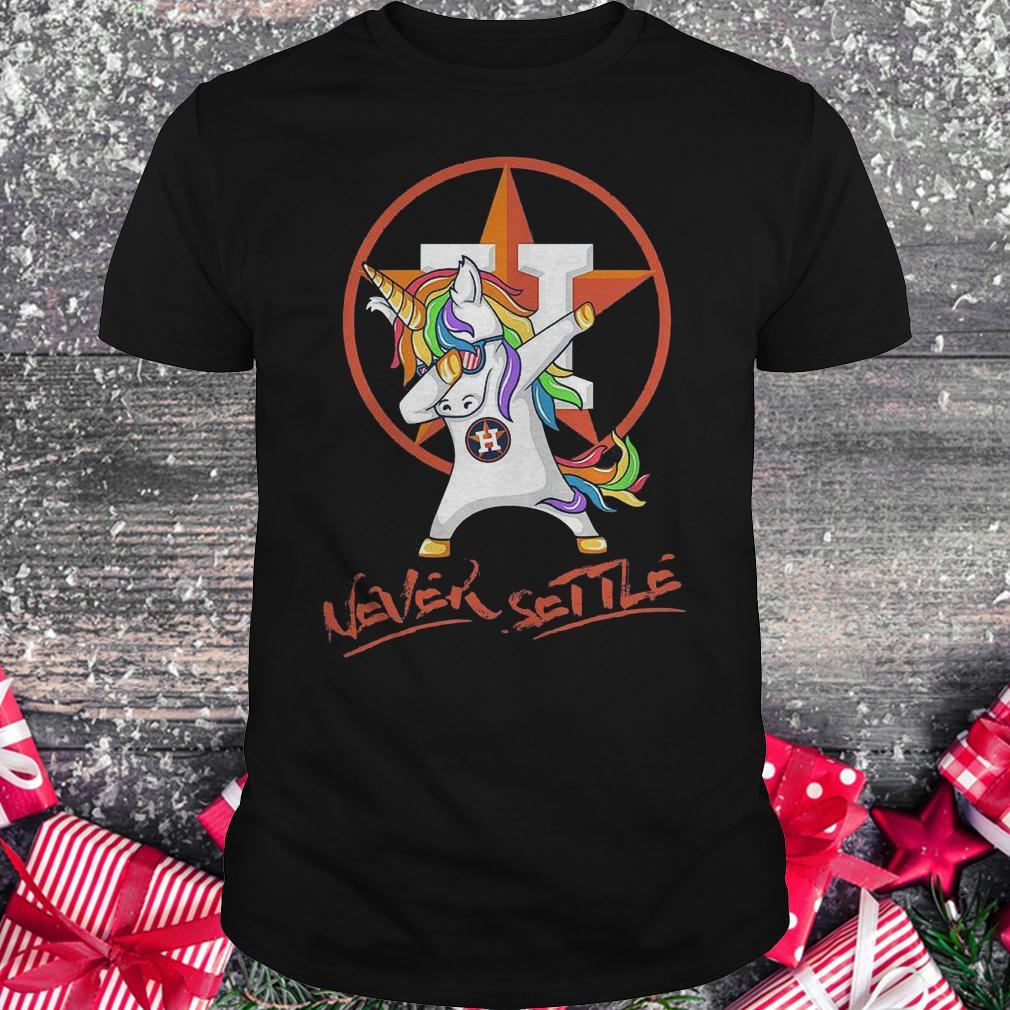 Houston Astros unicorn never settle shirt