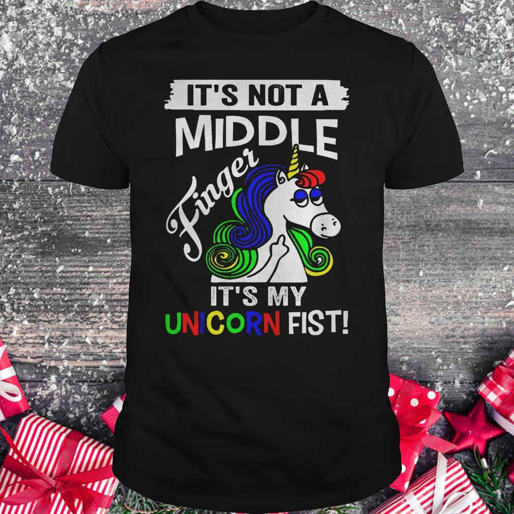 It's not a middle finger it's my unicorn fist shirt