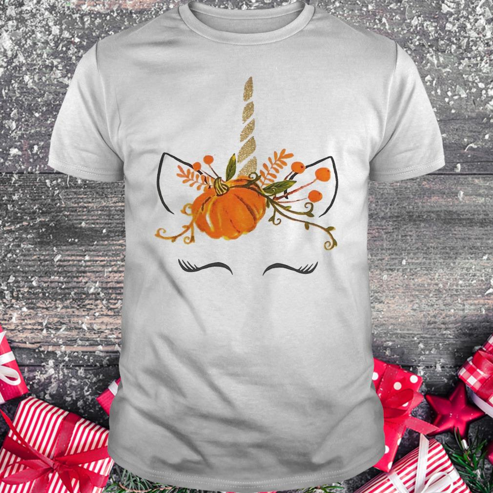Little girls Ruffle unicorn pumpkin halloween shirt