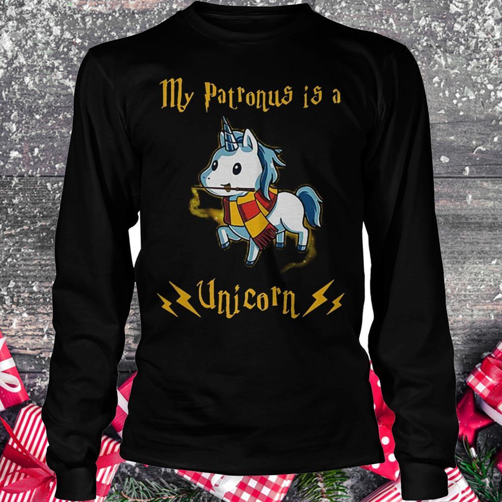 My patronus is a unicorn shirt Longsleeve Tee Unisex