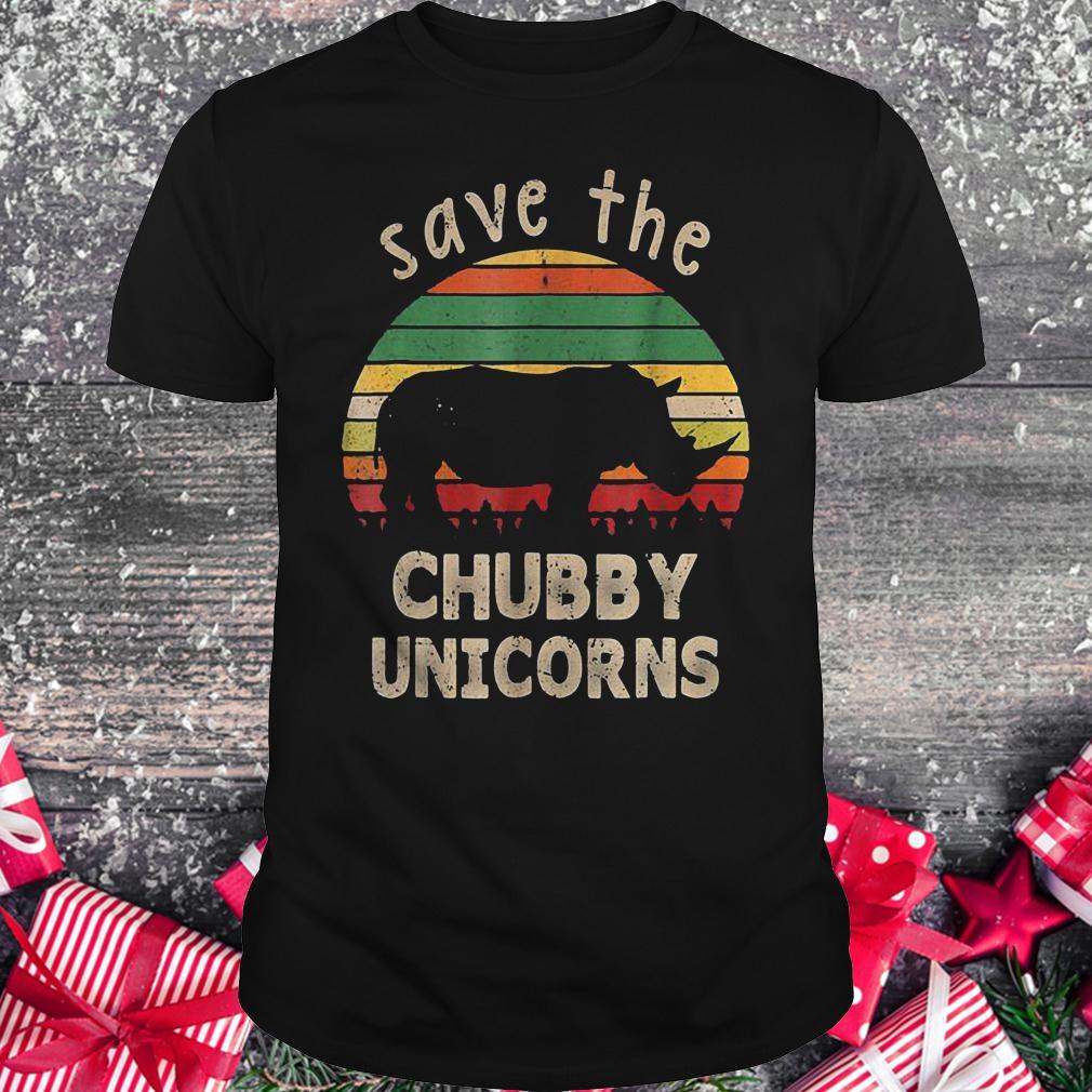 Save the chubby unicorns vintage rhino shirt