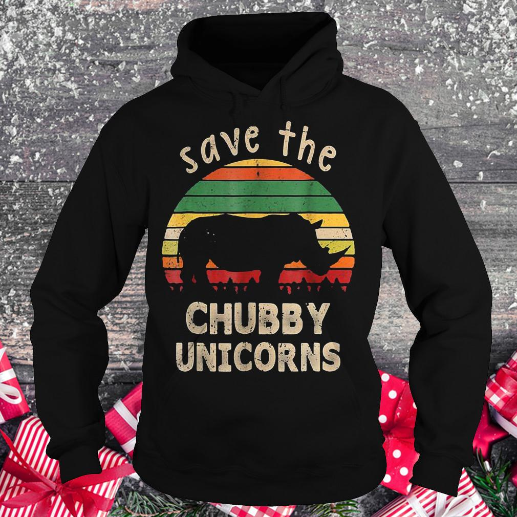 Save the chubby unicorns vintage rhino shirt Hoodie