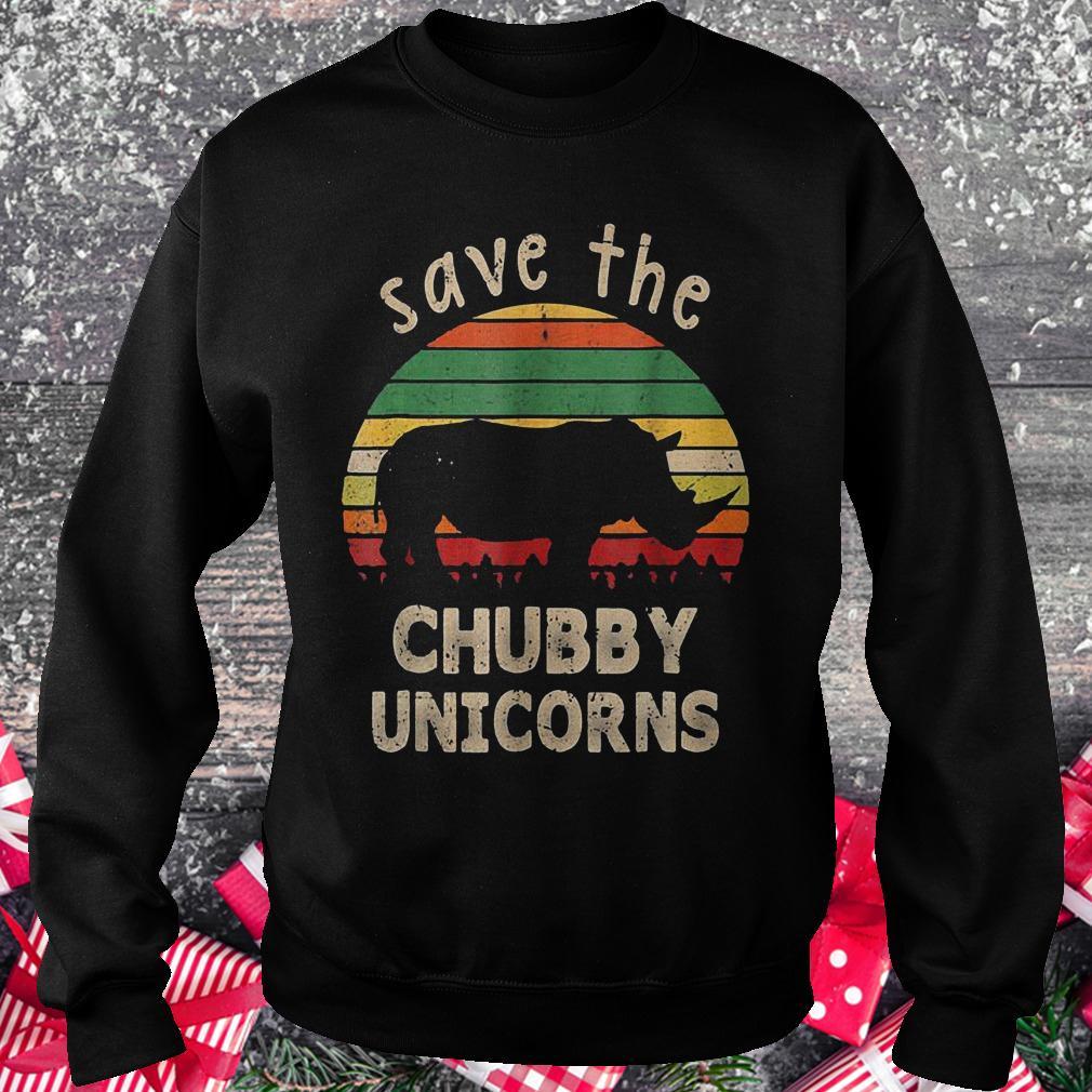 Save the chubby unicorns vintage rhino shirt Sweatshirt Unisex