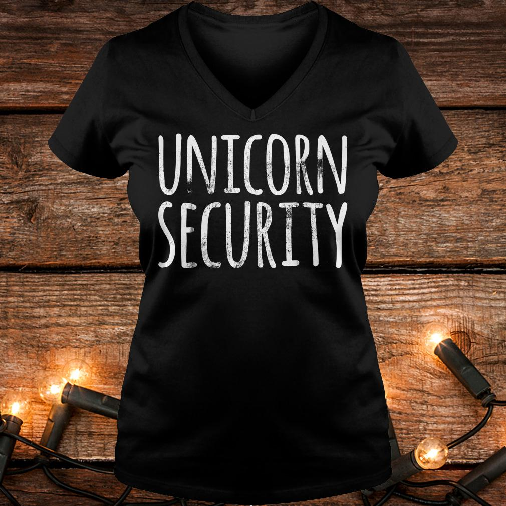Unicorn Security shirt Ladies V-Neck
