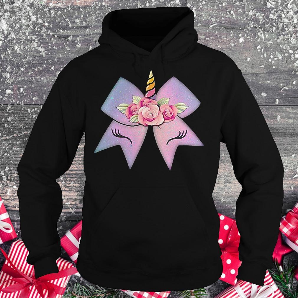 Unicorn bow flower shirt Hoodie