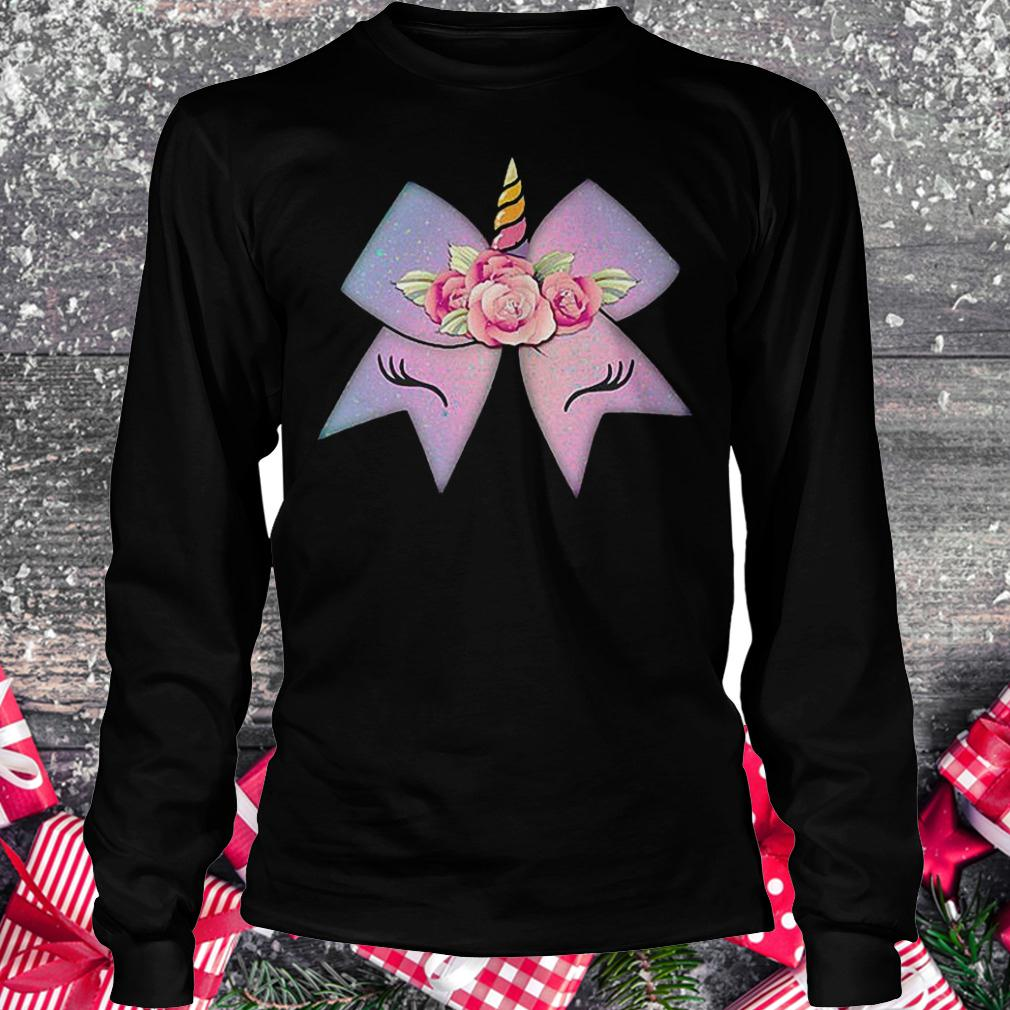 Unicorn bow flower shirt Longsleeve Tee Unisex