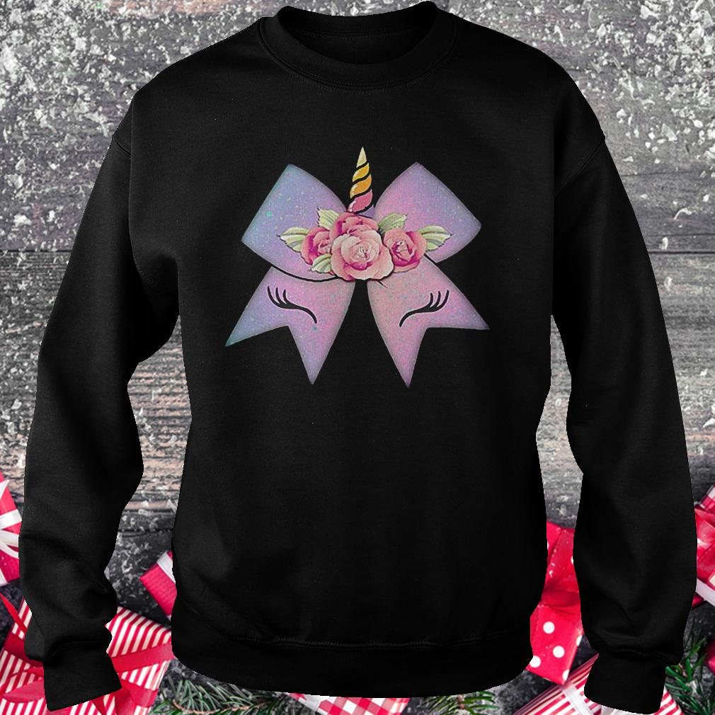 Unicorn bow flower shirt Sweatshirt Unisex