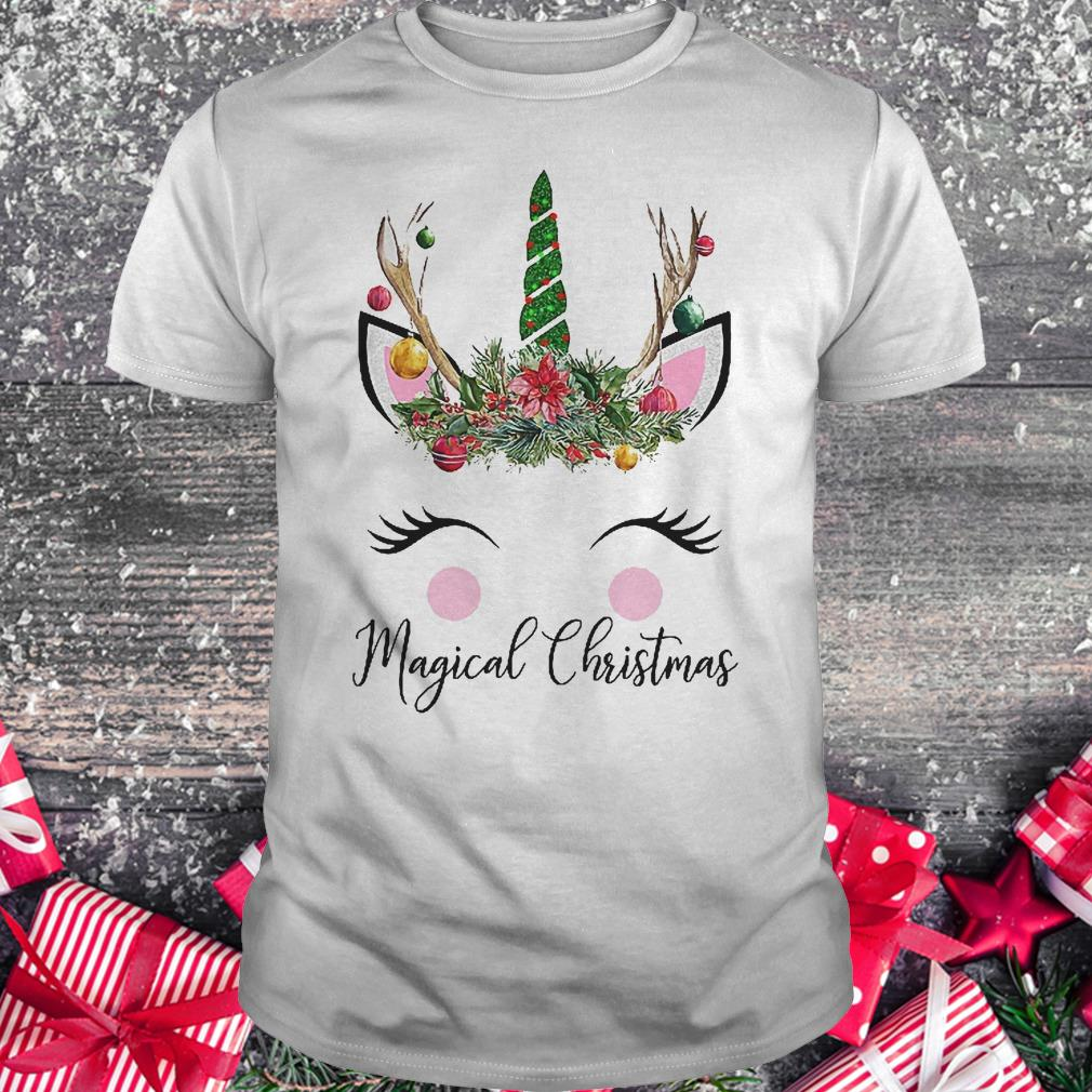 Unicorn magical Christmas shirt