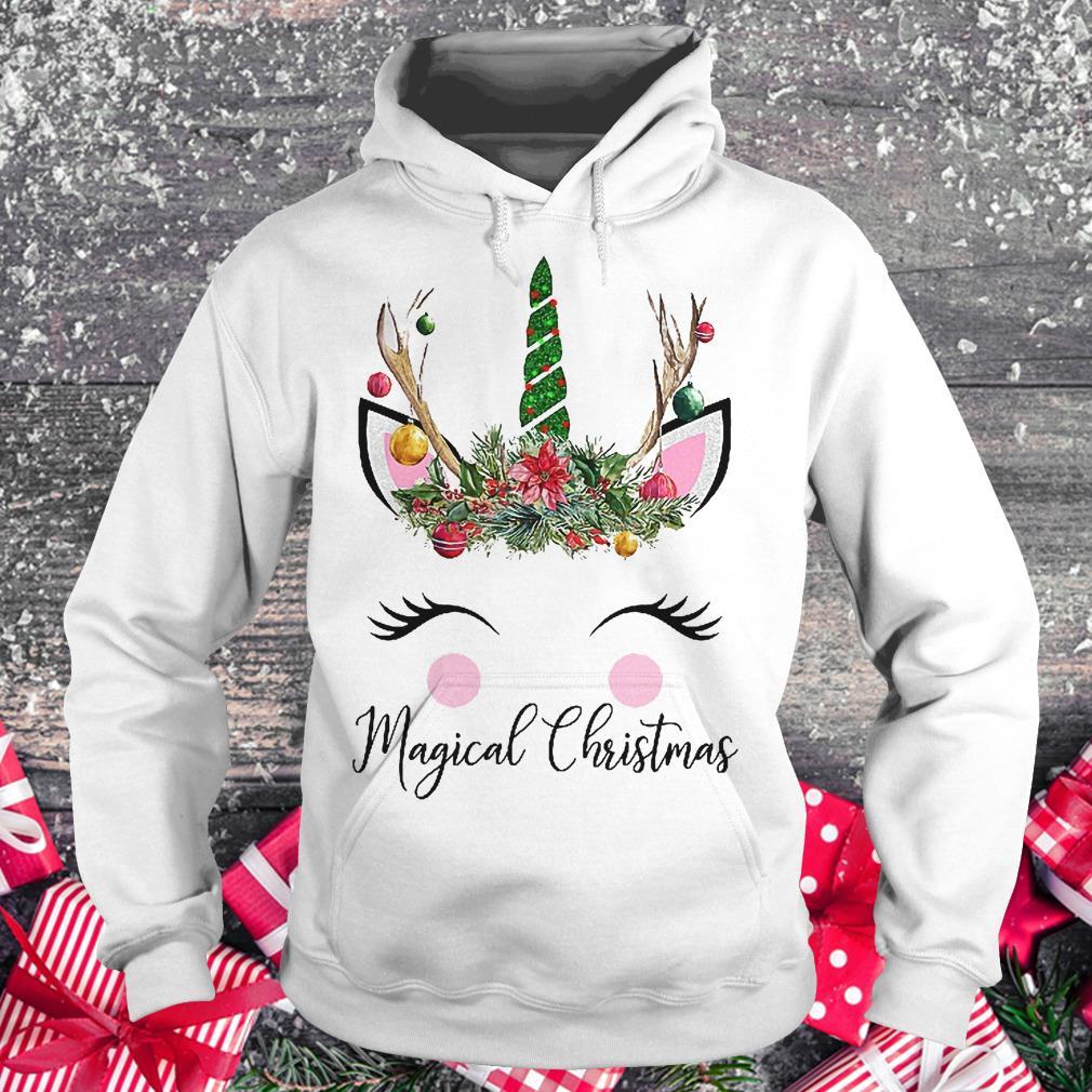 Unicorn magical Christmas shirt Hoodie