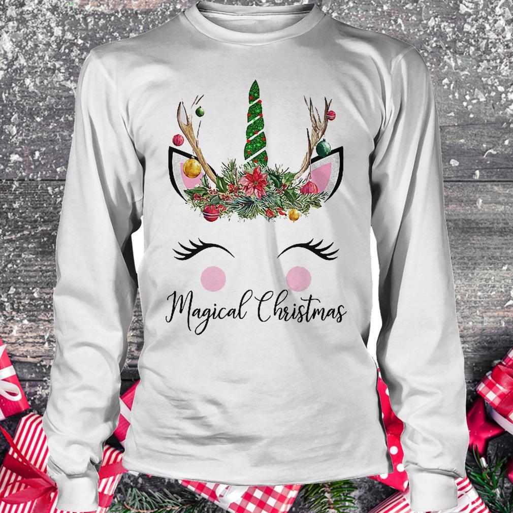 Unicorn magical Christmas shirt Longsleeve Tee Unisex
