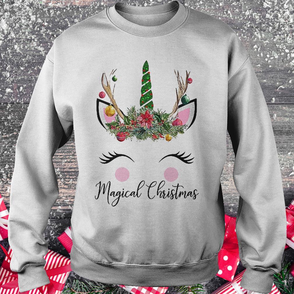 Unicorn magical Christmas shirt Sweatshirt Unisex