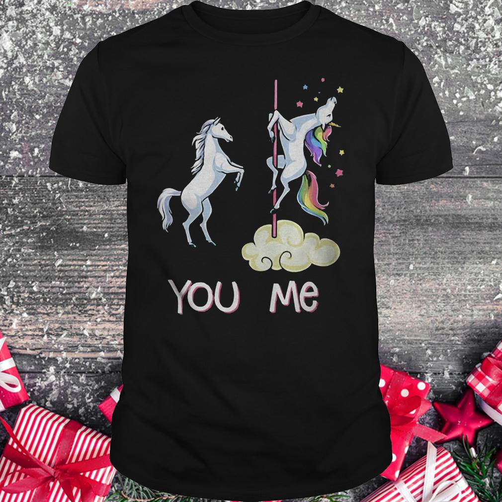 You vs me funny unicorns rainbow shirt