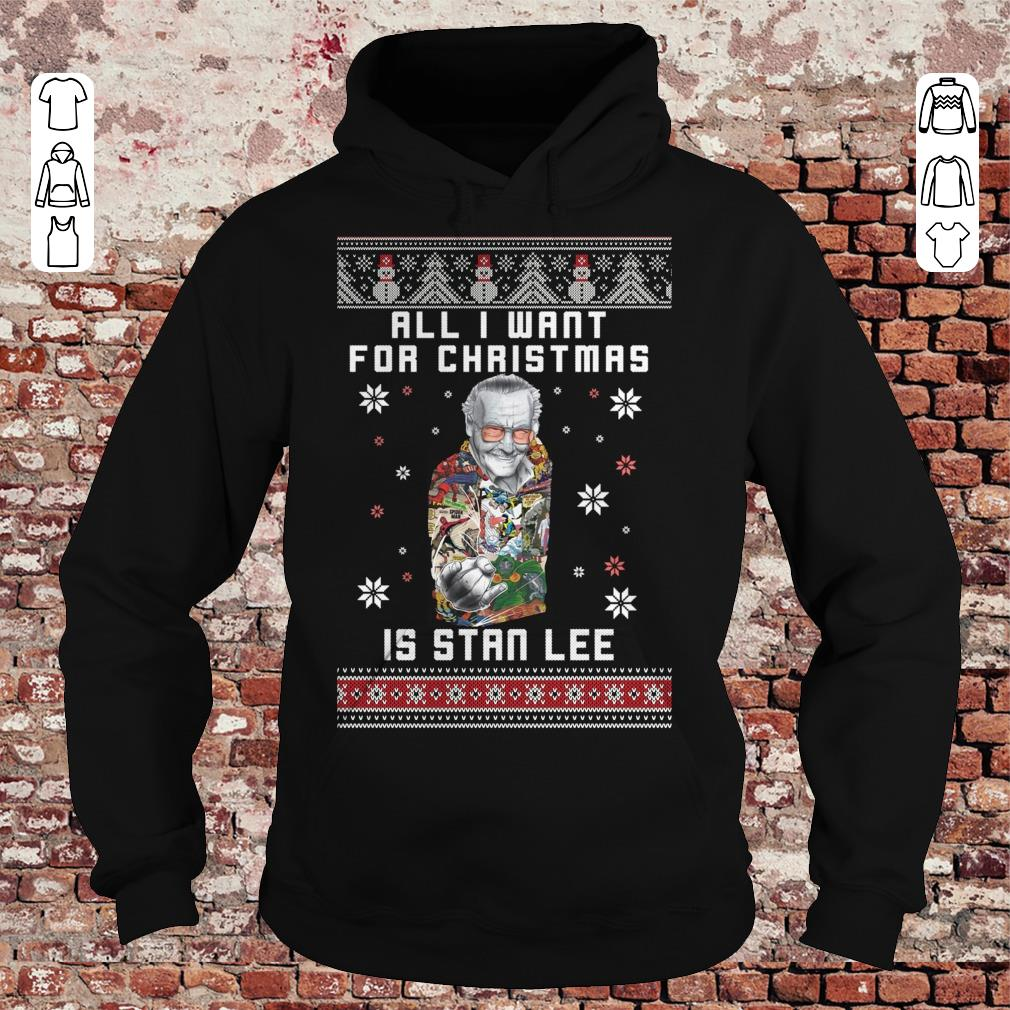 All I want for christmas is Stan Lee shirt Hoodie