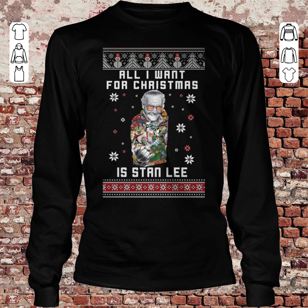 All I want for christmas is Stan Lee shirt Longsleeve Tee Unisex