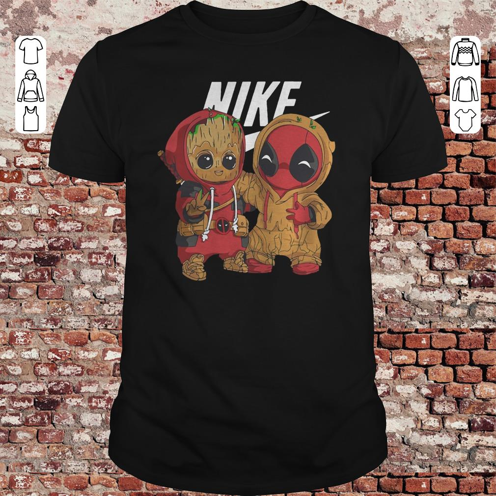 hot sale new specials website for discount Baby Groot and Deadpool Nike shirt, sweater, hoodie ...