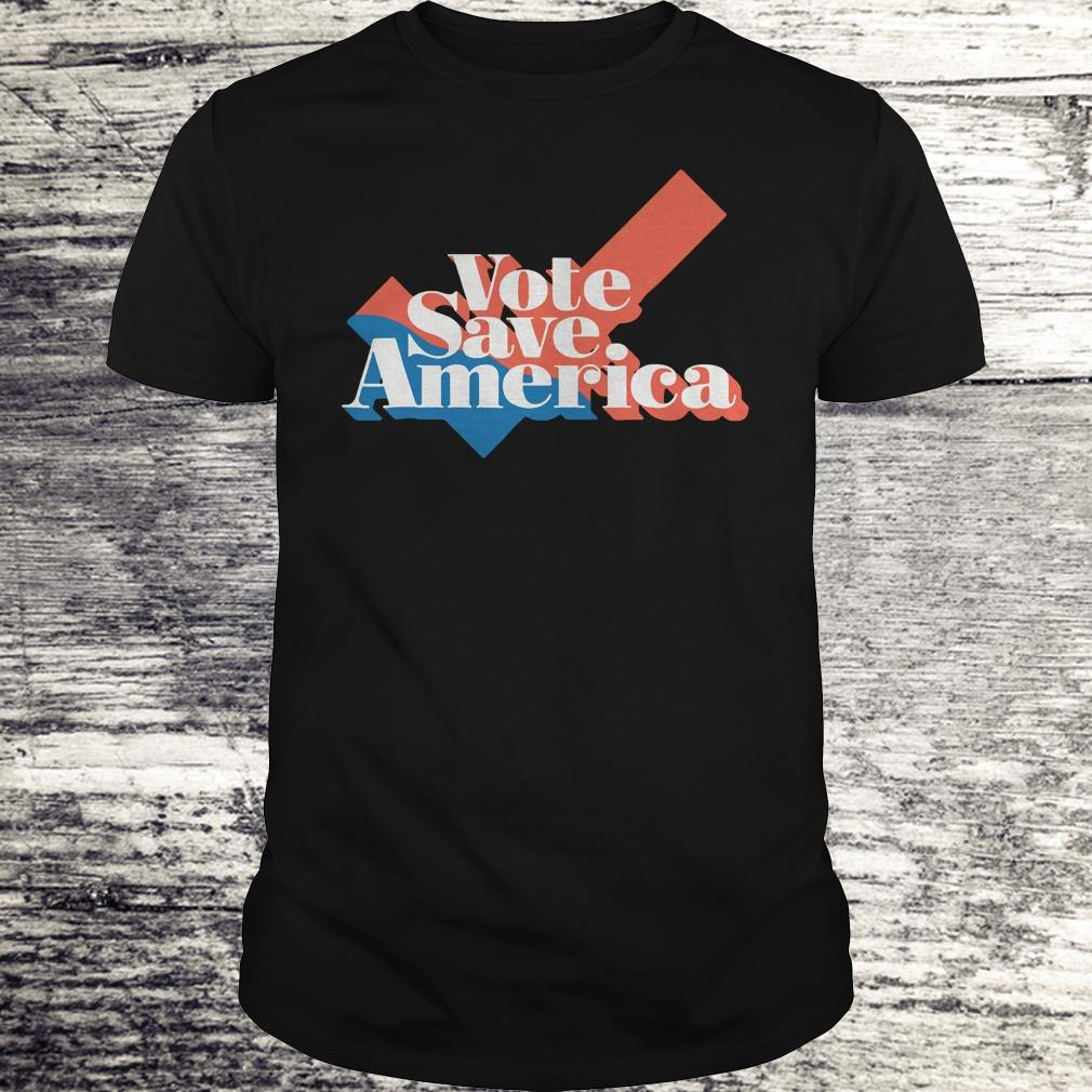 Be a voter to save america shirt