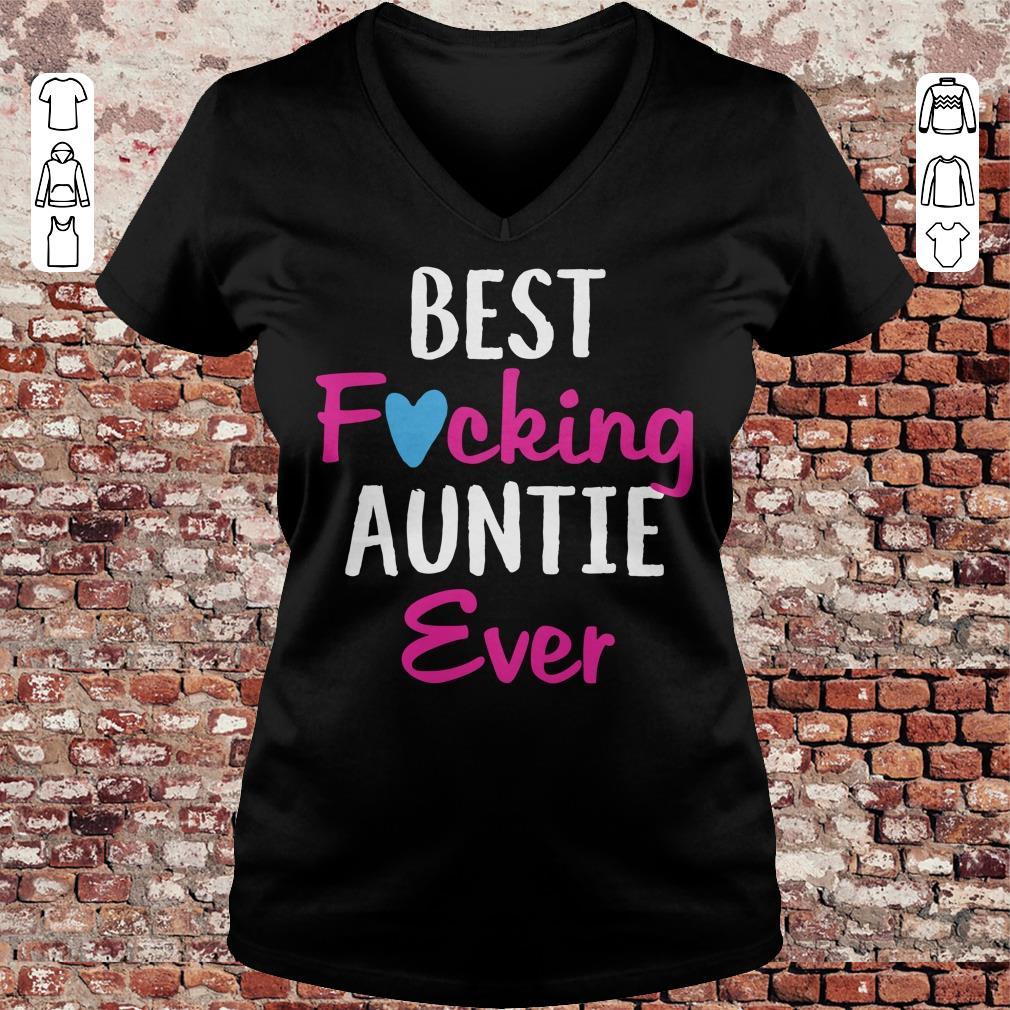 Best fucking auntie ever shirt Ladies V-Neck