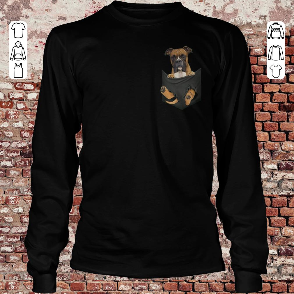 Boxer Tiny Pocket shirt Longsleeve Tee Unisex