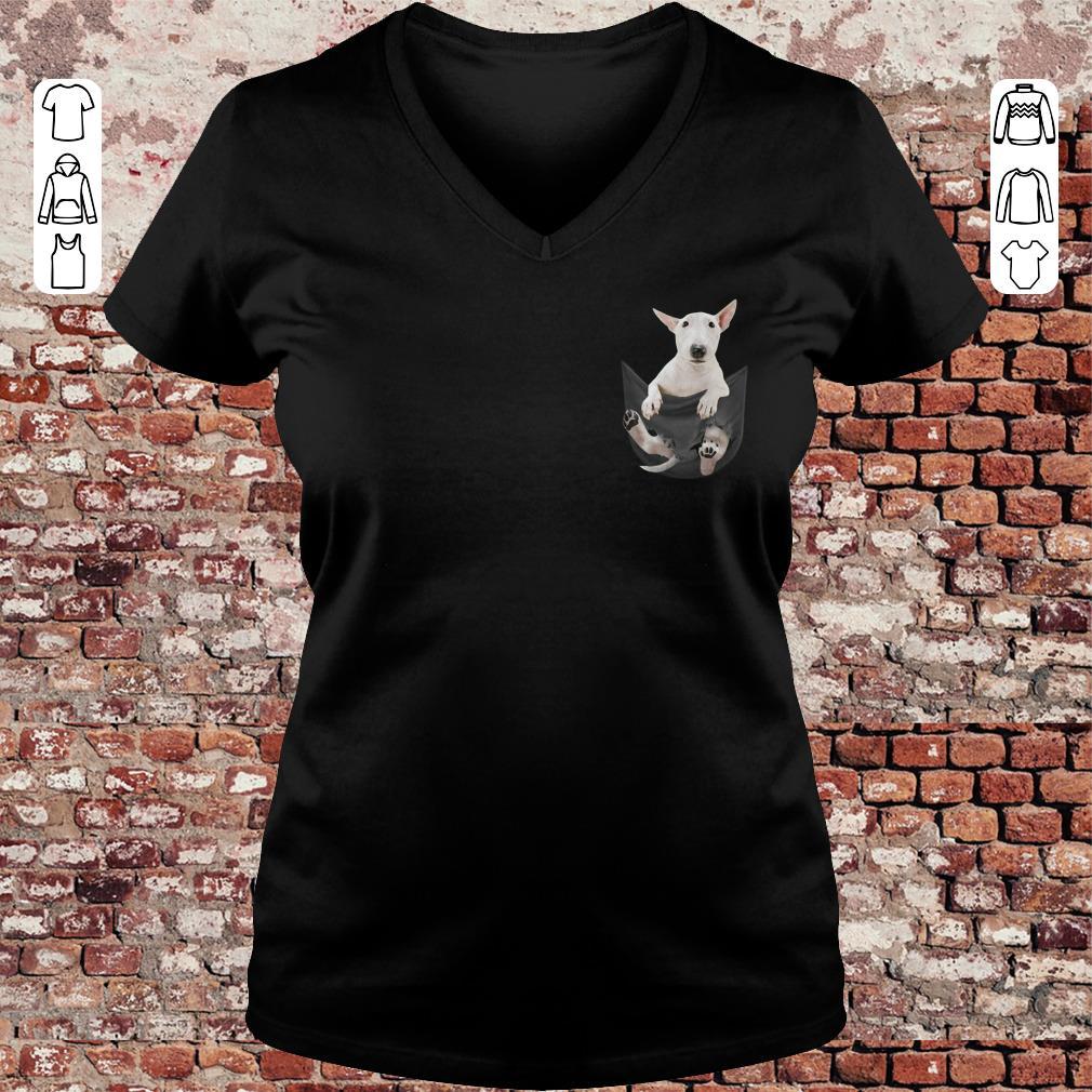 Bull Terrier Pocket shirt Ladies V-Neck
