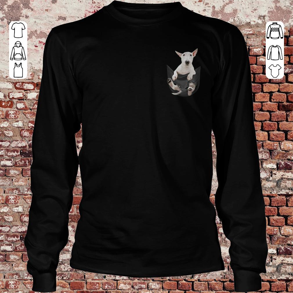 Bull Terrier Pocket shirt Longsleeve Tee Unisex