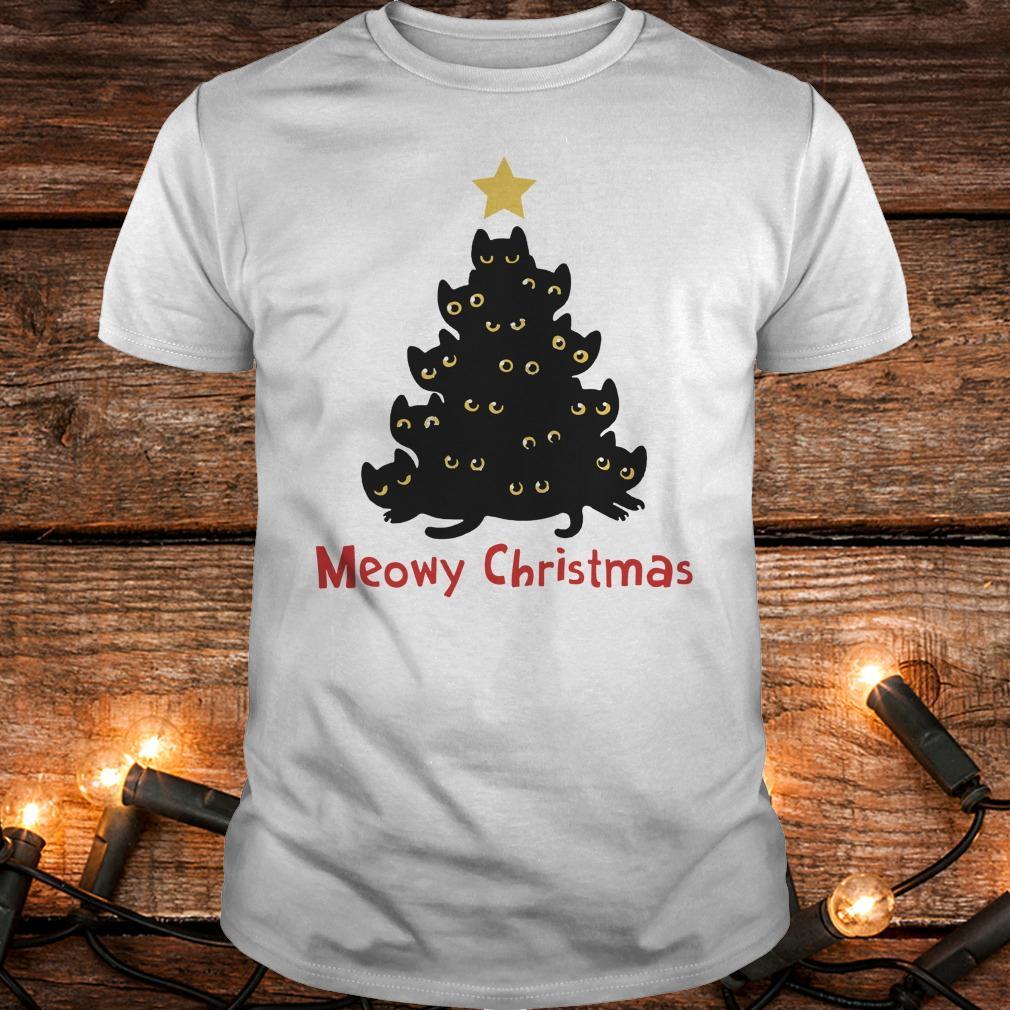 Cat Meowy Christmas Tree sweatshirt Classic Guys / Unisex Tee