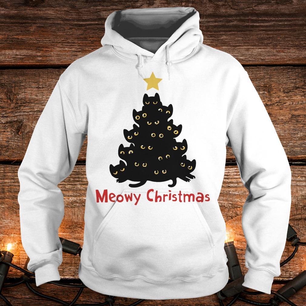 Cat Meowy Christmas Tree sweatshirt Hoodie
