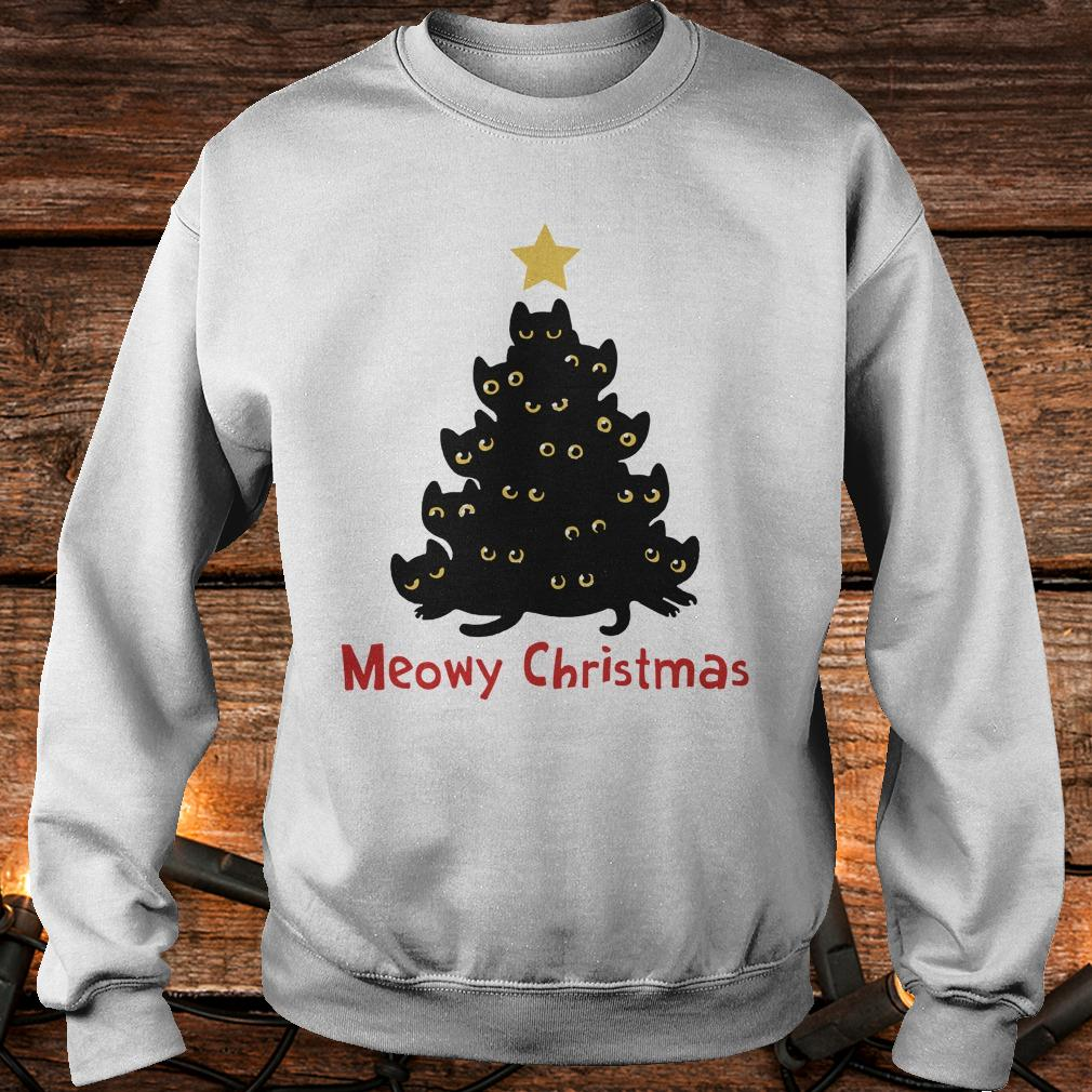Cat Meowy Christmas Tree sweatshirt