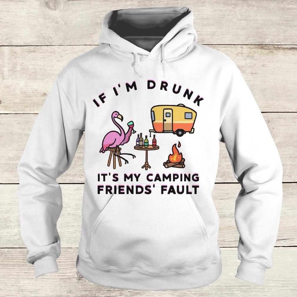 Flamingo It's my camping friends' fault shirt