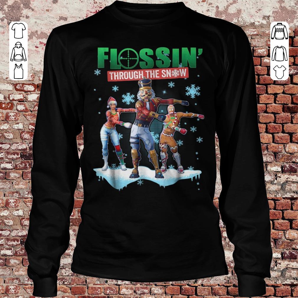 Fortnite Flossin Through the snow shirt Longsleeve Tee Unisex