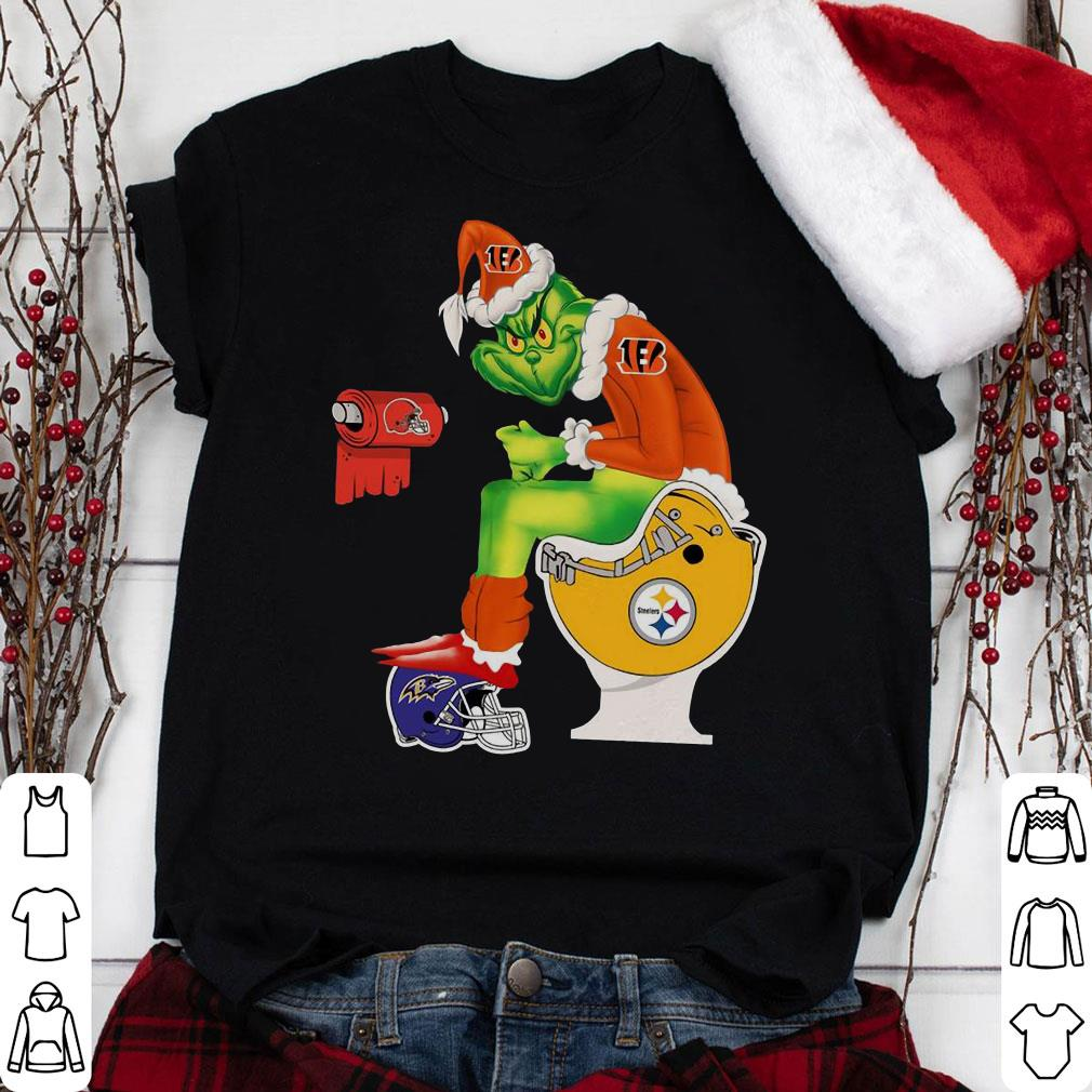 Grinch Santa Cincinnati Bengals Pittsburgh Steelers Toilet shirt