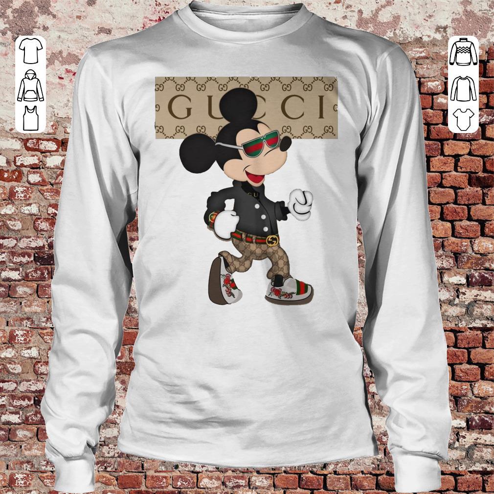 Gucci Mickey Mouse Stylish shirt Longsleeve Tee Unisex