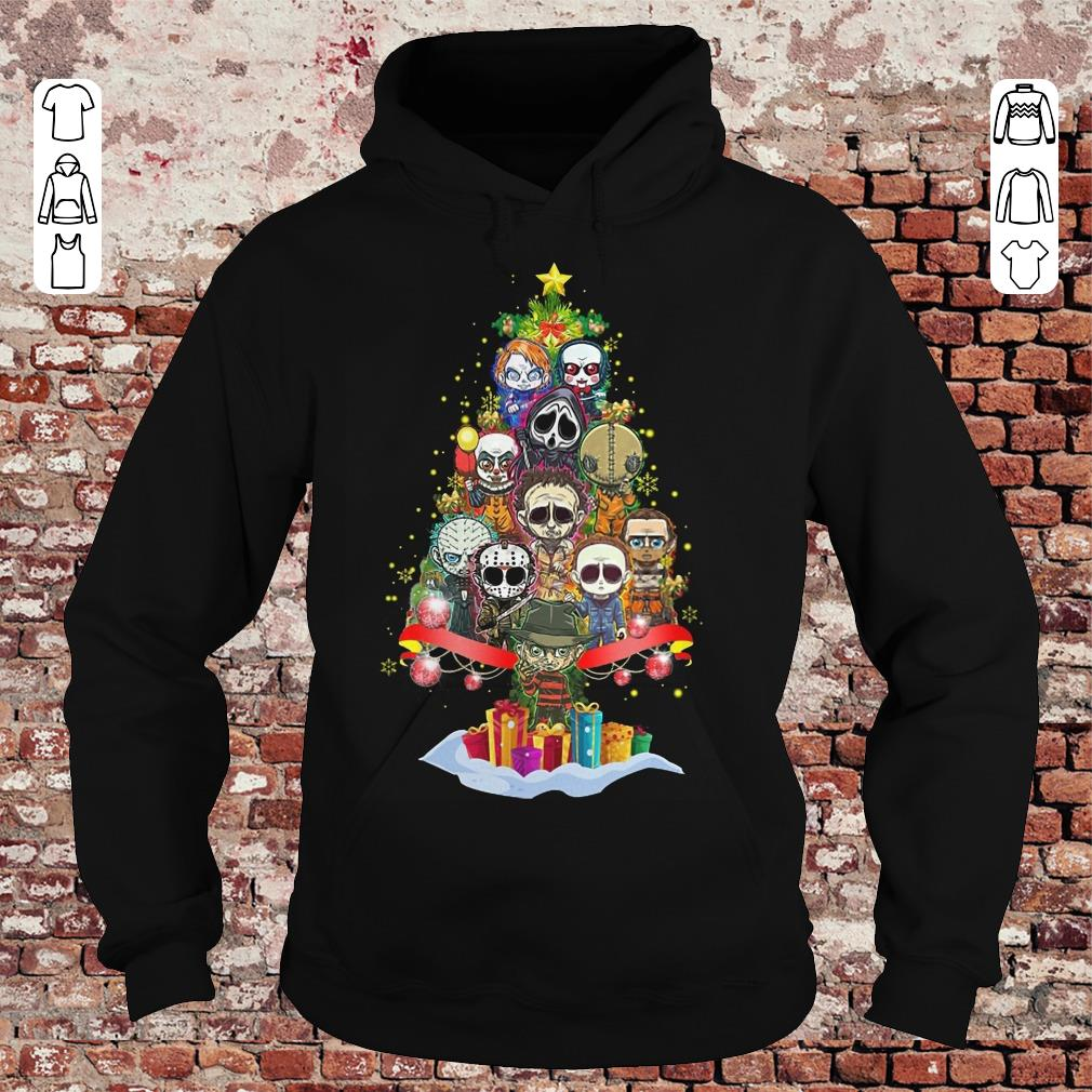 Horror characters nightmare christmas tree shirt Hoodie