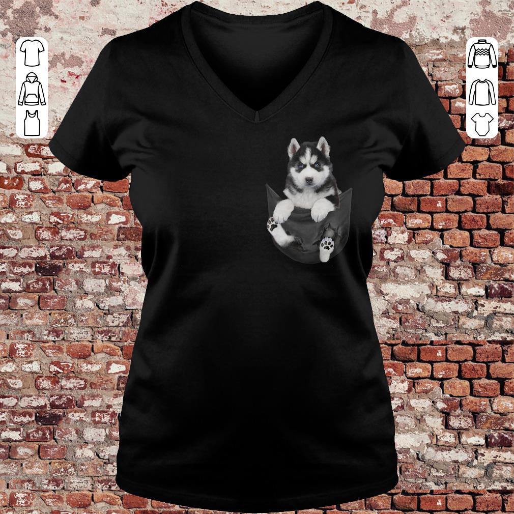 Husky Tiny Pocket shirt Ladies V-Neck