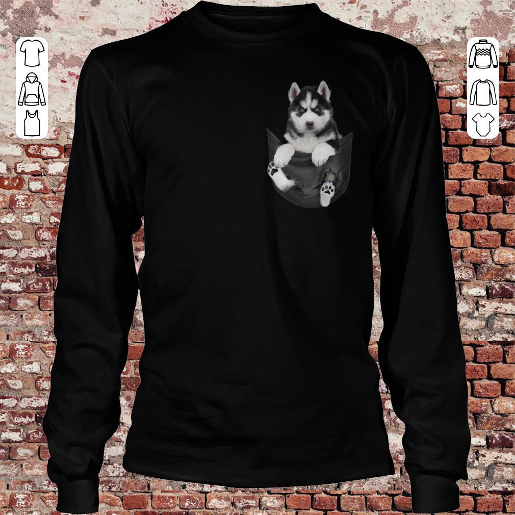 Husky Tiny Pocket shirt Longsleeve Tee Unisex