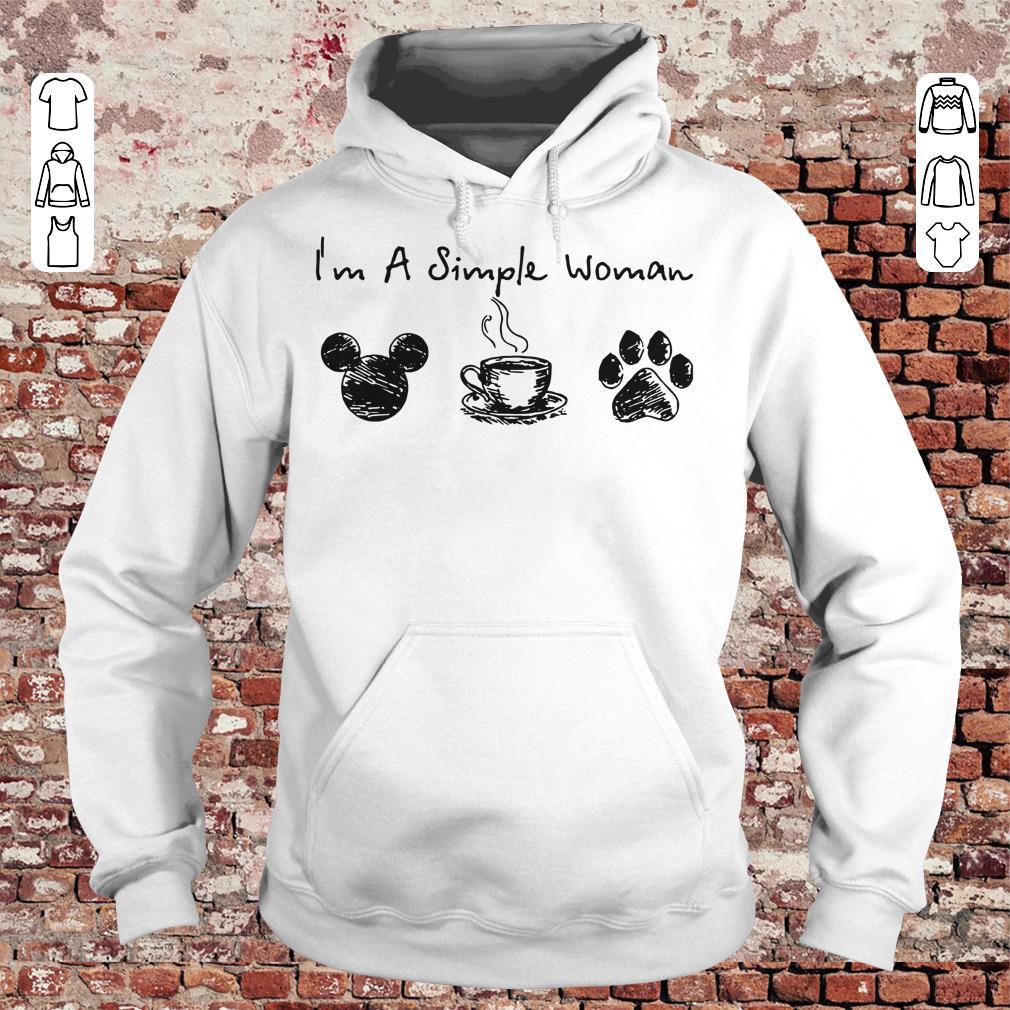 86da42505501 I'm a simple woman I like Mickey Minnie Mouse Coffee and Dog shirt Hoodie