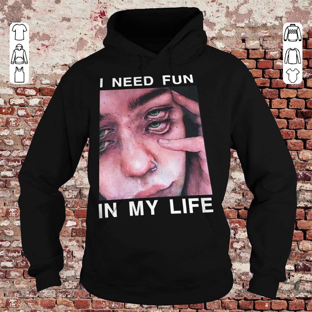 I need fun in my life The Drums Surreal Glitchy shirt Hoodie