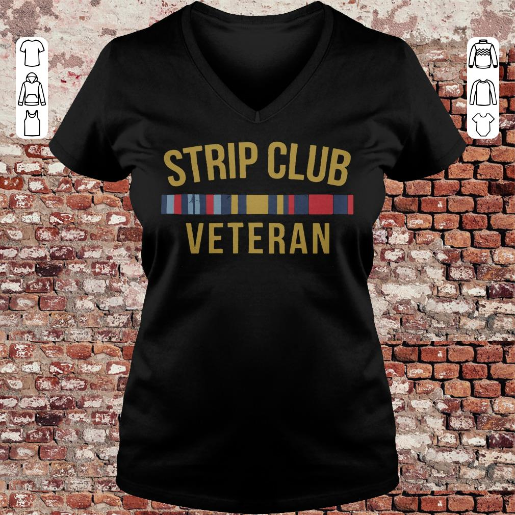 Military Strip club veteran shirt Ladies V-Neck