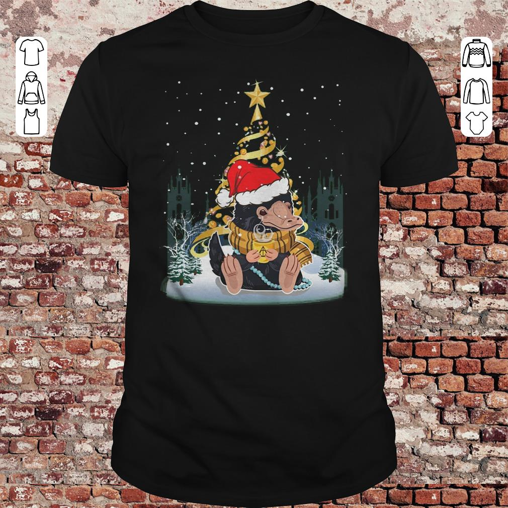 Niffler Santa Hat Christmas tree Under Snow shirt 1