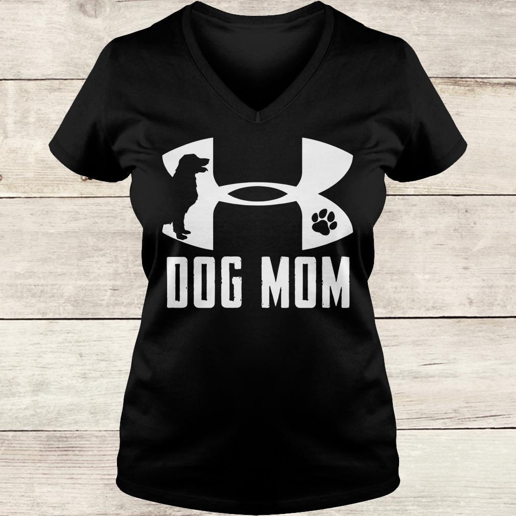 Original Under Armour Dog mom shirt Ladies V-Neck