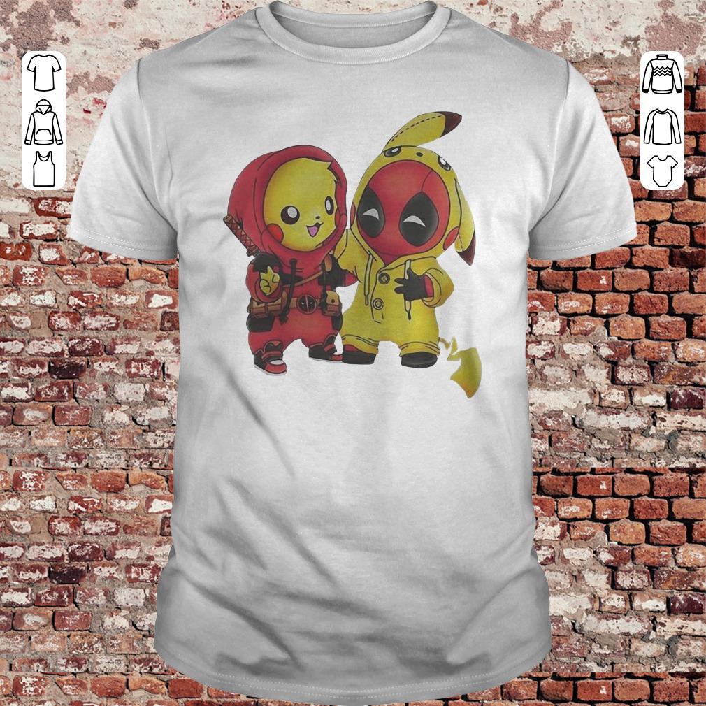 Pokemon Pikachu and Deadpool shirt