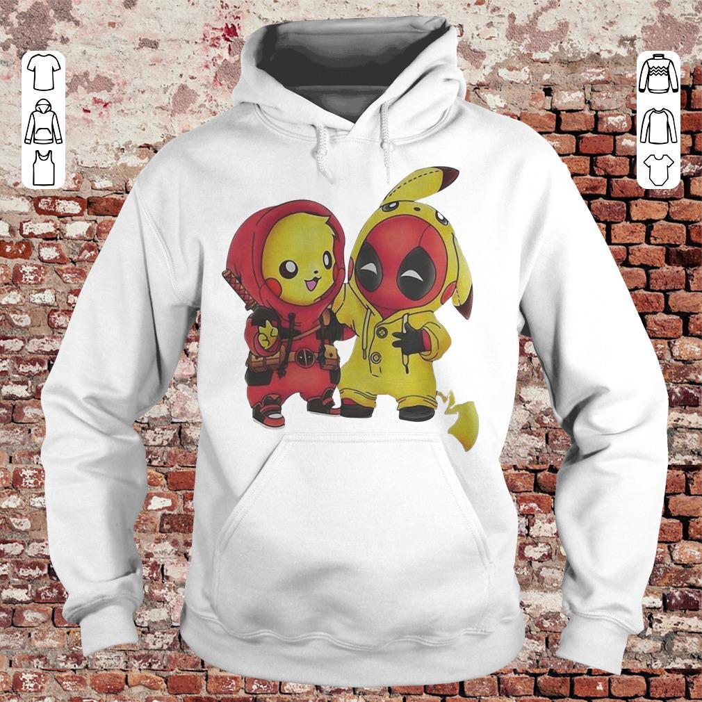Pokemon Pikachu and Deadpool shirt Hoodie