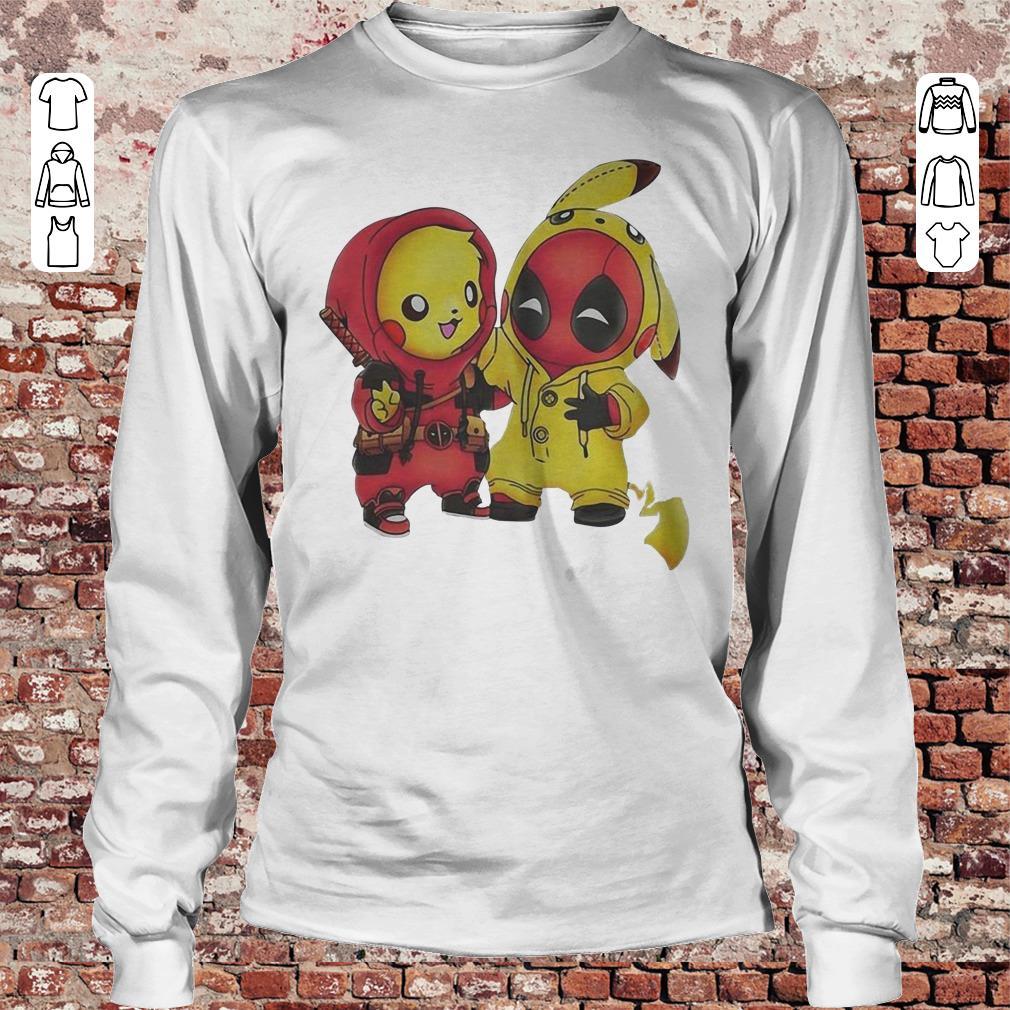 Pokemon Pikachu and Deadpool shirt Longsleeve Tee Unisex