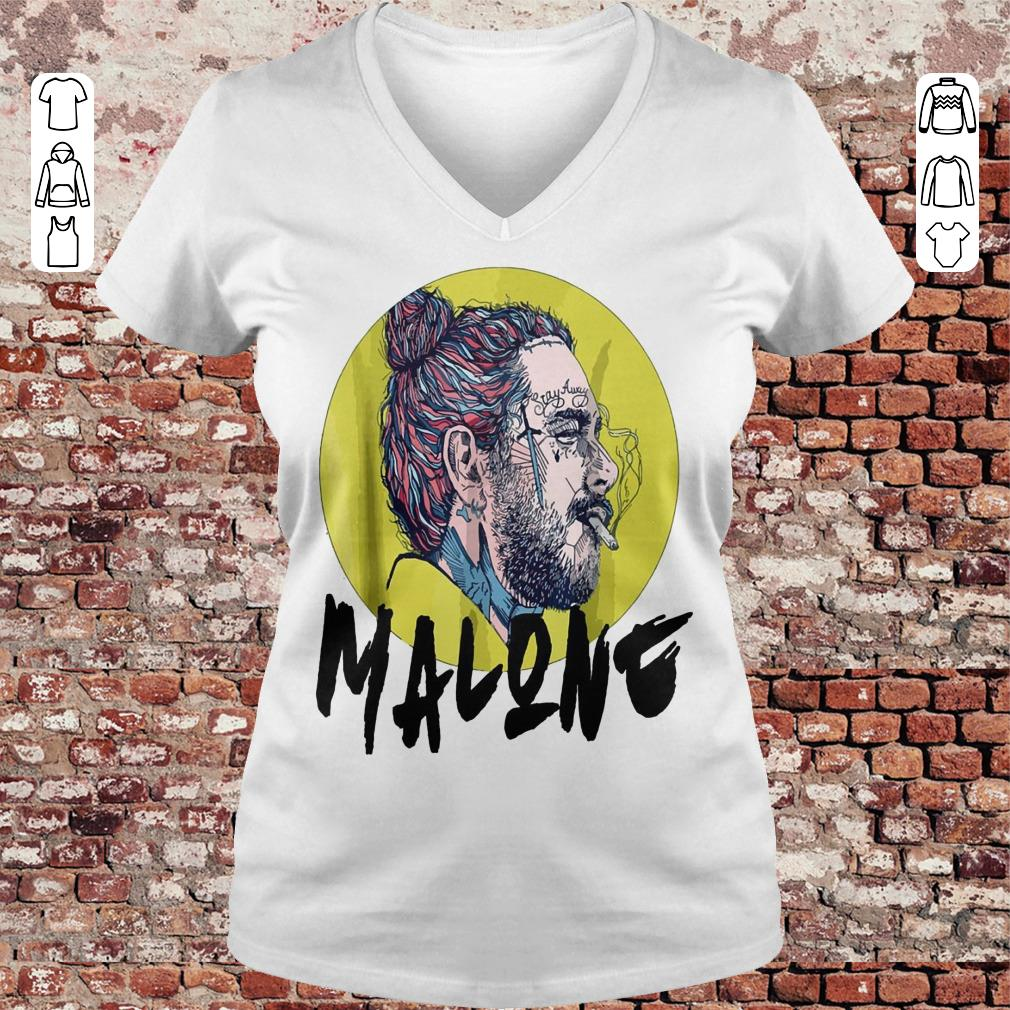 Post malone stay away shirt Ladies V-Neck