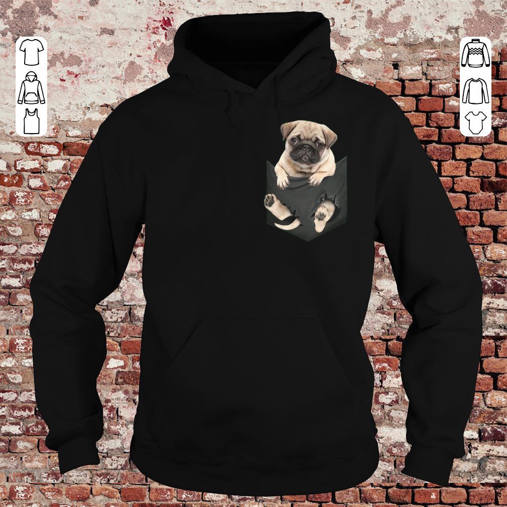 Pug dog In Pocket shirt, sweater Hoodie