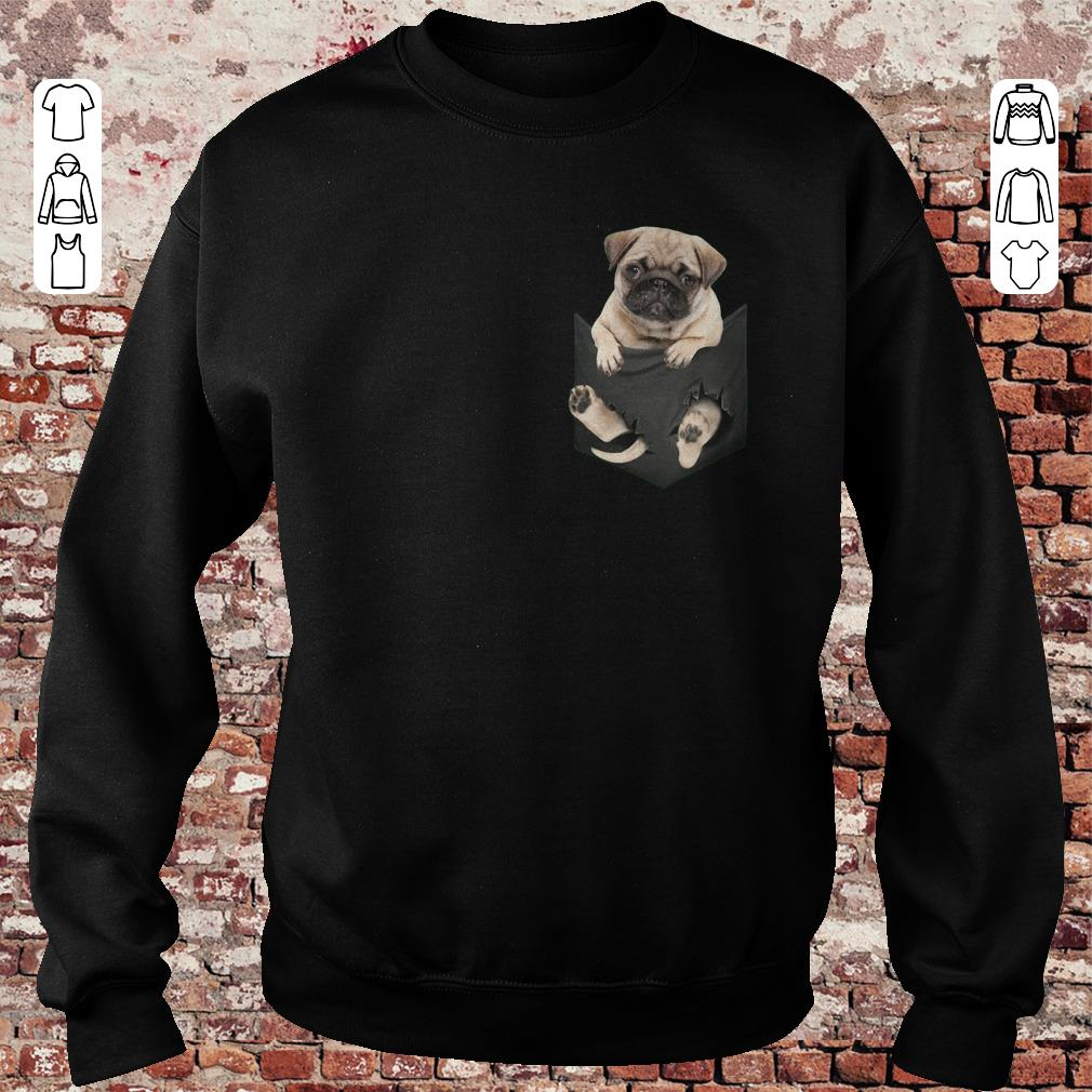 Pug dog In Pocket shirt, sweater