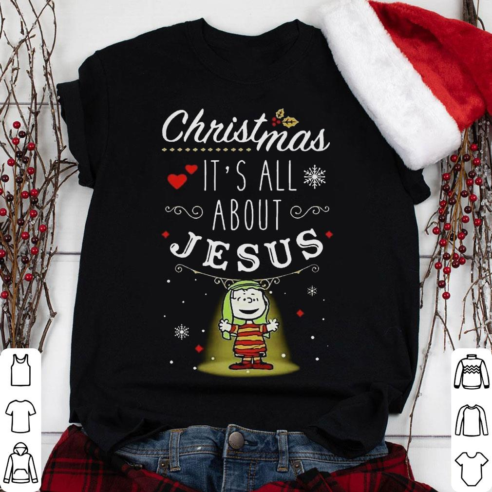 Snoopy and Charlie Brown Christmas It's all about Jesus shirt
